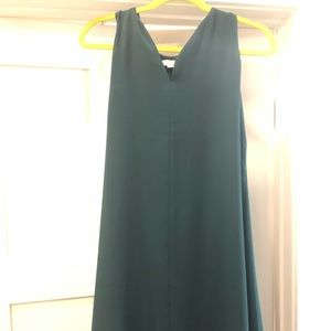 Green, T back swing dress, LOFT